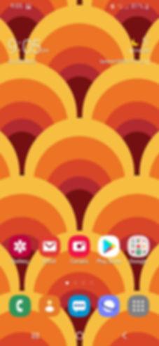 Mobile phone screenshot of 70's wallpaper