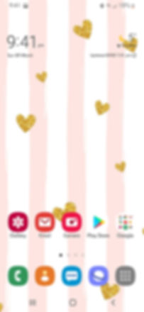 Mobile phone screenshot of Heart Confetti wallpaper