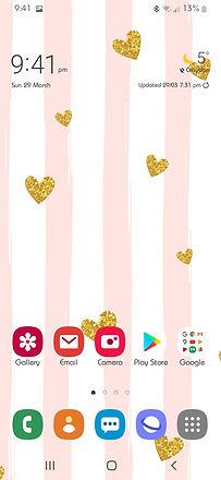 Mobile phone screenshot of Heart Confetti wallpaper