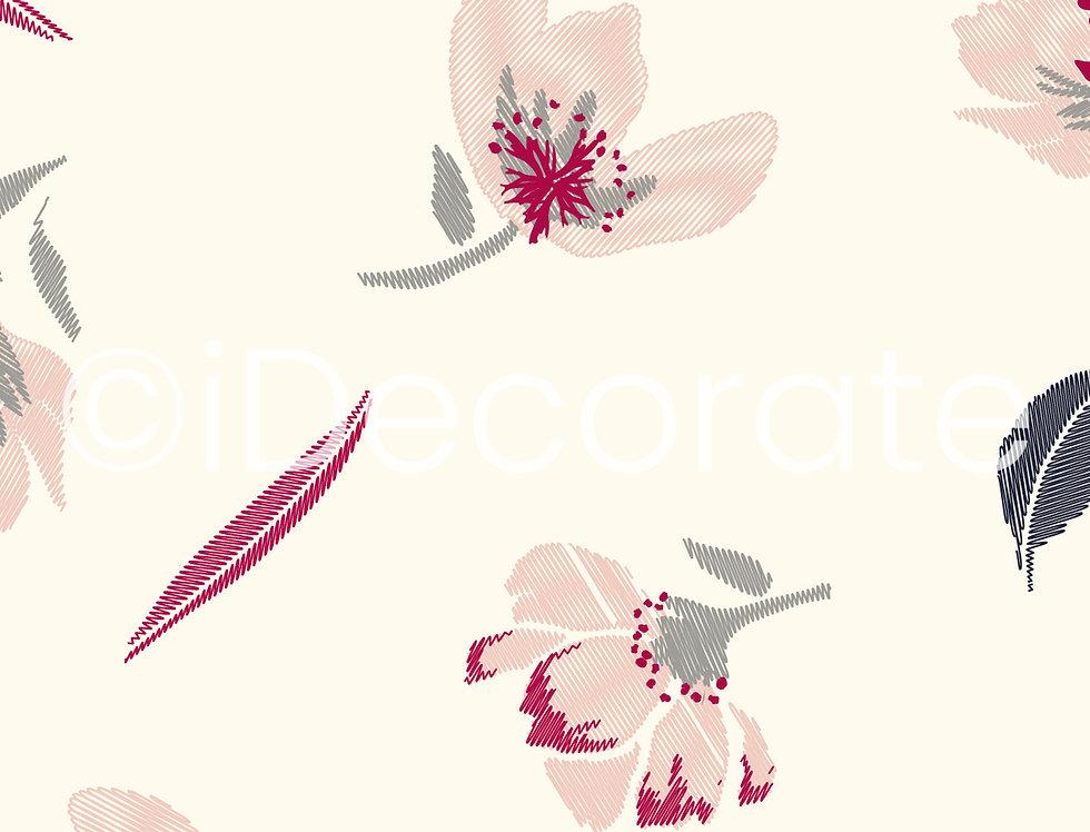 Pastel Flowered Wallpaper