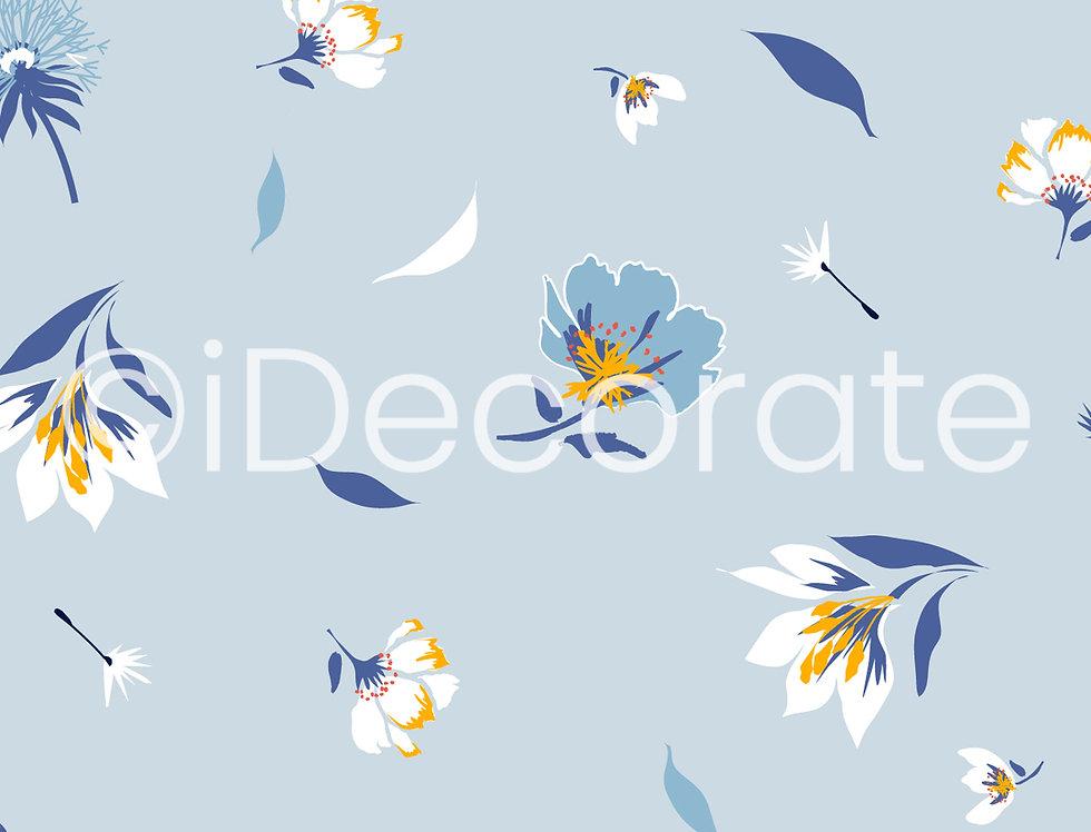 Blossomed Blue Wallpaper