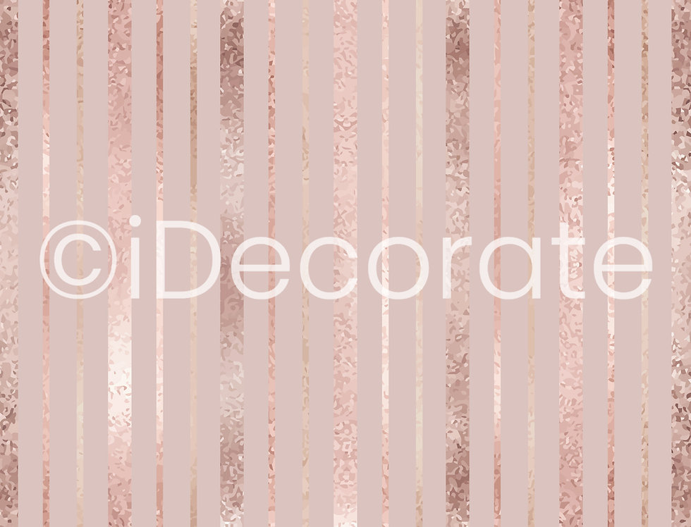 Rose Gold Striped Wallpaper