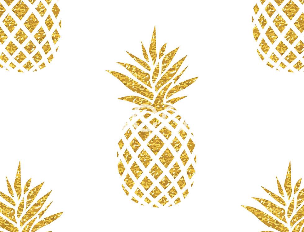 Summer Gold Pineapple Wallpaper