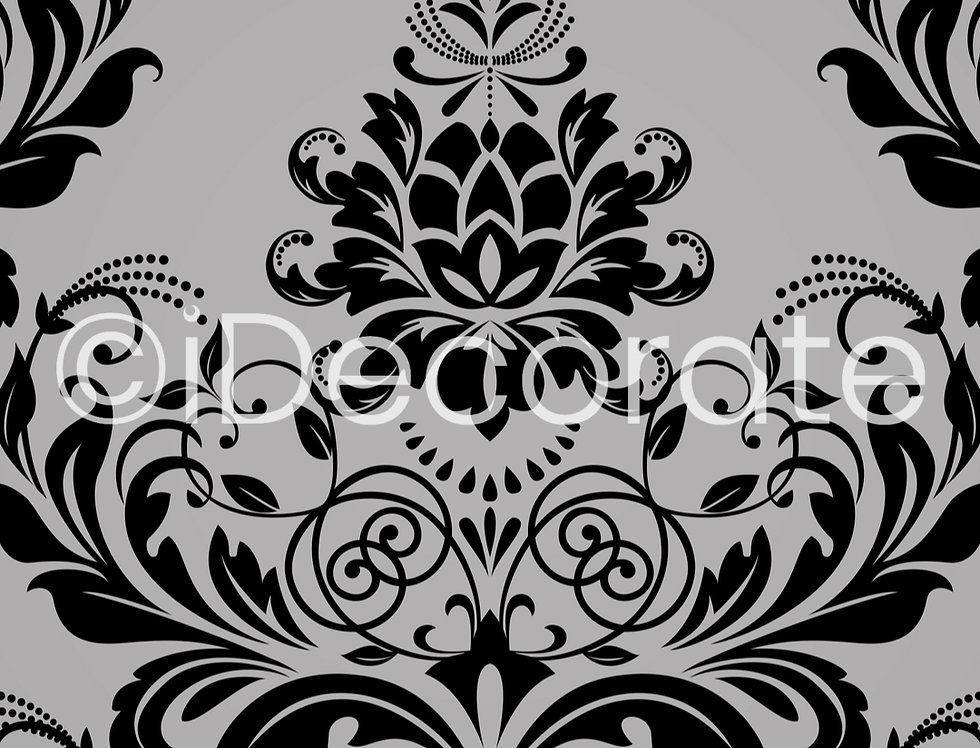 Floral Baroque Wallpaper