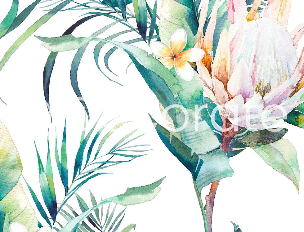 Tropical Bouquet Wallpaper