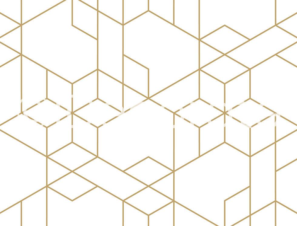 Gold Linear Wallpaper