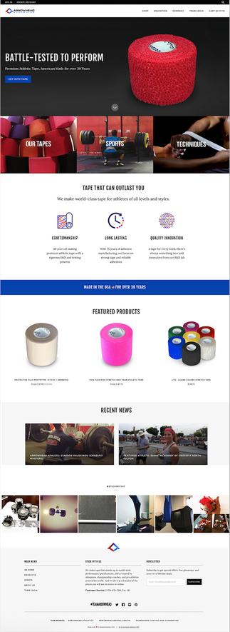 Arrowhead Athletics - Shopify Website Project Management & Design