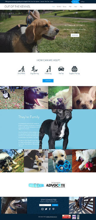 Out of the Kennel - Website Project Management & Design