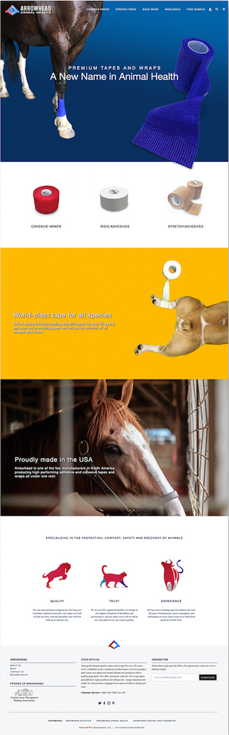 Arrowhead Animal Health - Shopify Website Design