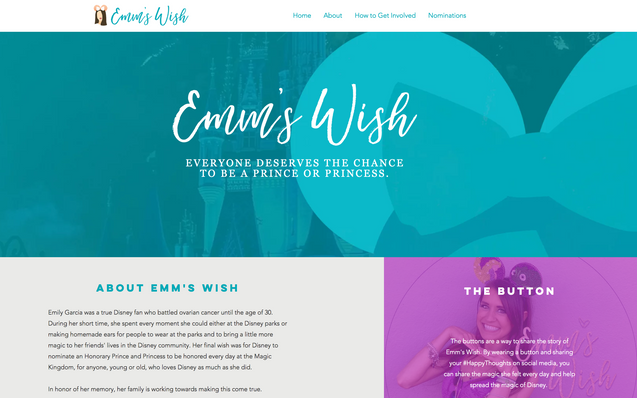 Emms Wish Website Project Management &Design