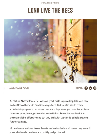 Nature Nate's - Blog writing
