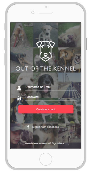 Out of the Kennel - Mobile App UI Concept