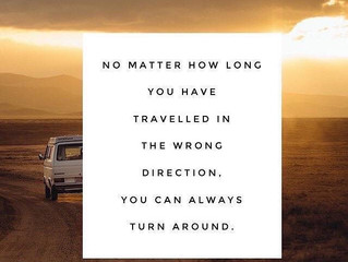 It is never to late to change direction in life.