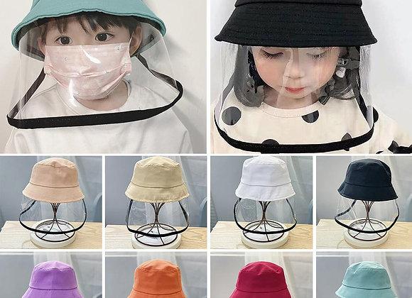 Children Face Shield Bucket Hat