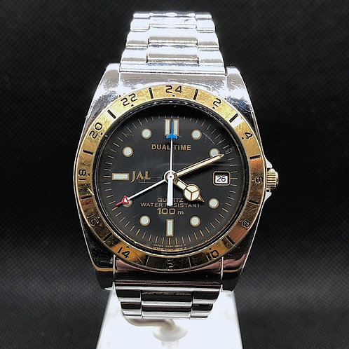 RARE SEIKO × JAL DUALTIME COMBINATION VX39-6B10