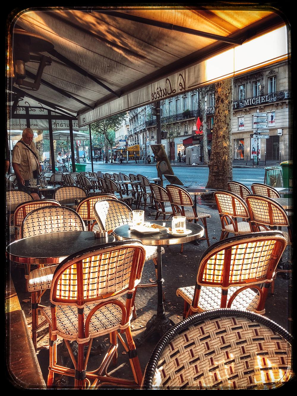 La Terrasse overlooking Boulevard Saint-Michel