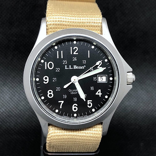 L.L.Bean FIELD MILITARY WATCH FRENCH MOVT