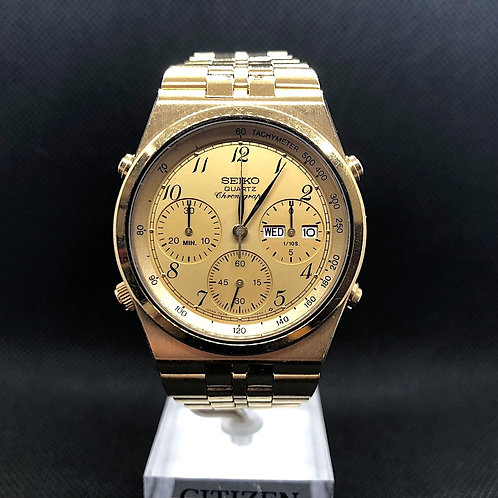 SEIKO QUARTZ CHRONOGRAPH GOLD 7A38-7289