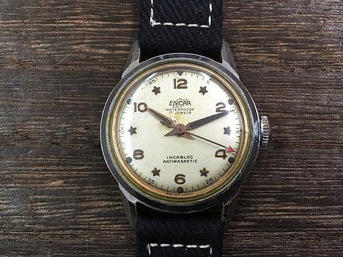 希少1950年代 ENICAR STAR INDEX INCABLOC 17Jewels 手巻き