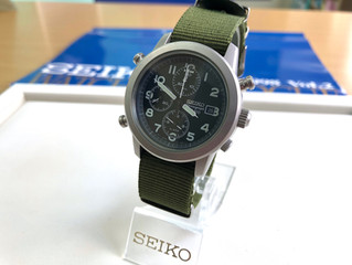 SEIKO OVERSEAS SQ100 Chronograph 7T32-7D90 Military Green Dial