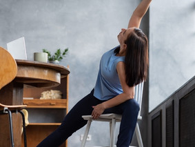 Yoga Poses you can do while Sitting at your Desk. Simple Desk Yoga Poses to Aid your Body and Mind.