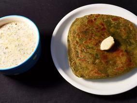 Bathua ke Parathe. Spiced Pigweed Indian Bread