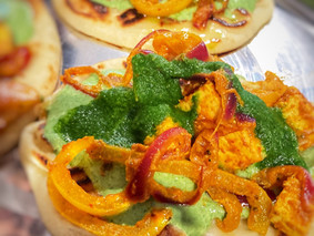 Masala Paneer (Indian Cottage Cheese) Naan Tacos
