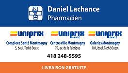 Carte d'affaires Groupe Daniel Lachance