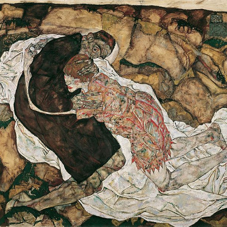 Der tod und das Mädchen (Schilder: Egon Schiele, dichter: Simon Thielens)