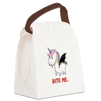 Vampire Unicorn Canvas Lunch Bag