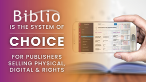 Biblio is the system of choice for publishers selling physical, digital and rights