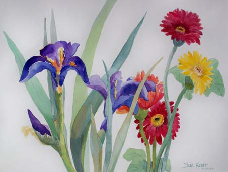 """Dutch Iris and Daisies""©"