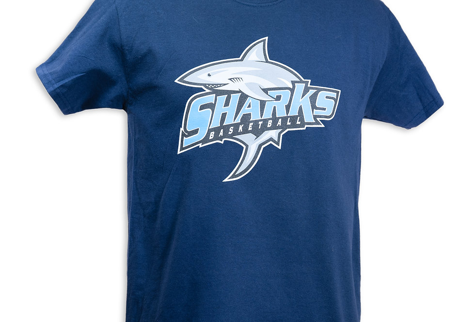 Navy Blue Sharks T-Shirt
