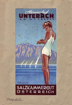 Farbdruck Unterach_1952