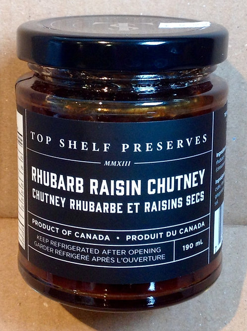 Top Shelf Preserves Rhubarb Raisin Chutney