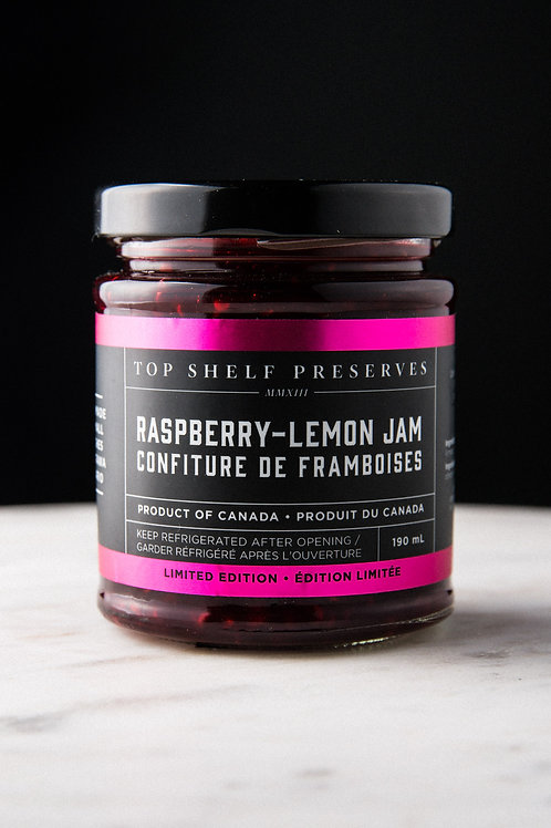 Top Shelf Raspberry Lemon Jam