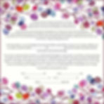 Purple leaves/berries ketubah