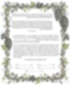 Grapevine framed ketubah