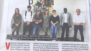 [Revue de presse] Le journal de Millau sur l'exposition du CADA