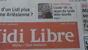 [Revue de presse] Midi libre 08/01/2021