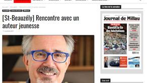 [Revue de presse] Le Journal de Millau sur JB de Panafieu