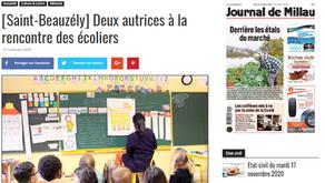 [Revue de presse] Le Journal de Millau 21/11/20