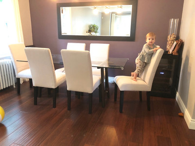 Kid friendly parsons chairs