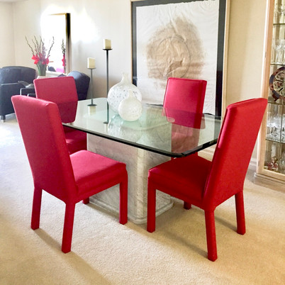 Modern parsons chairs