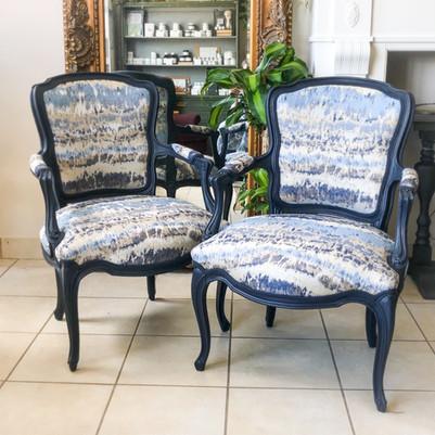 Louis XV arm chairs