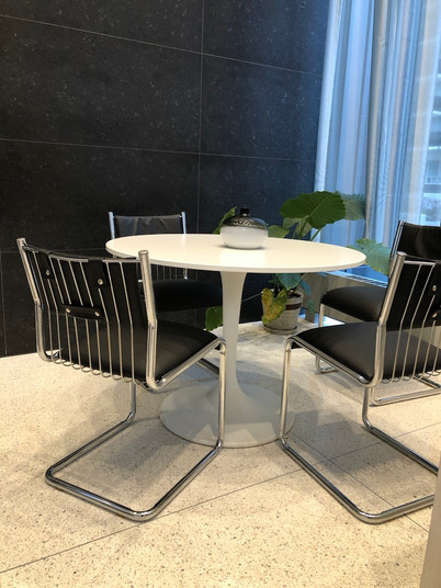 Vintage chrome wire chairs