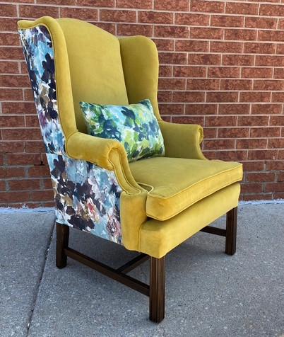 Telephone wingback chair