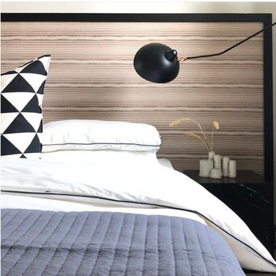 Wood framed headboard