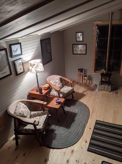 Vintage wooden heirloom armchairs