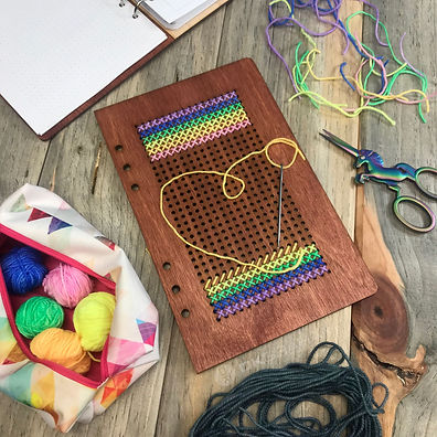 StitchBOOKlit yarn craft DIY journal planner book